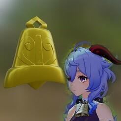 ganyu bell.jpg Download STL file Ganyu Cowbell Cosplay Accessory • 3D print object, BrandonMaker