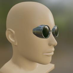 nanami 1.png Download STL file Kento Nanami Glasses - Jujutsu Kaisen • 3D printer model, BrandonMaker