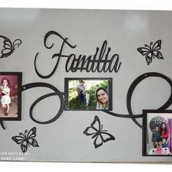 Descargar modelos 3D para imprimir Family photo frame - Portaretrato familiar, joylez29