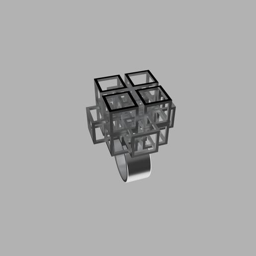frame.1.png Download free STL file Falling Geometric Ring  • Model to 3D print, RavenSfx