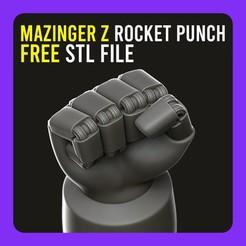Télécharger fichier impression 3D gratuit ▷ Mazinger Z Rocket Punch 【 KEYCHAIN 】, gersith