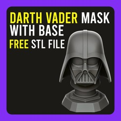 C.jpg Download free STL file ▷ Darth Vader Mask with Base • 3D print object, gersith