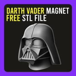 Descargar archivo 3D gratis ▷ Darth Vader Mask Magnet Fridge 🗄️, gersith