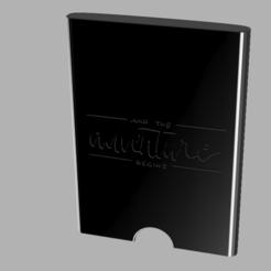 kindlec.PNG Télécharger fichier STL Kindle Paperwhite hard shell -Et l'aventure commence- • Objet imprimable en 3D, ipall3dworks