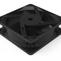 12 (1).png Télécharger fichier 3MF Boîtier du ventilateur de refroidissement de l'ordinateur avec pale de ventilateur • Design pour impression 3D, hasanmdanam