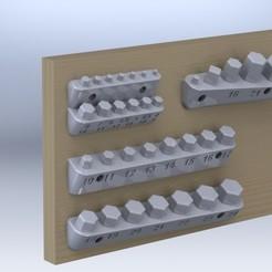 """rendered.JPG Descargar archivo STL Soportes de pared para zócalos métricos de 1/4"""" y 1/2 • Modelo para la impresora 3D, sunbow"""