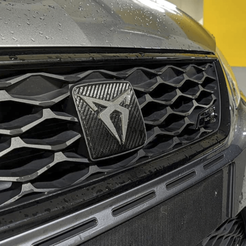 Frontal.png Download STL file Logo Cupra for Seat Leon MK3 (2013-2020) • 3D print design, OWLPerformance