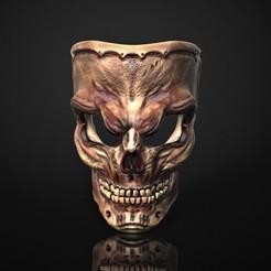 Télécharger fichier 3D Masque de crâne, Nayibe