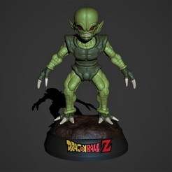 render1.jpg Download STL file Saibaman Dragon Ball Z • Model to 3D print, Nayibe