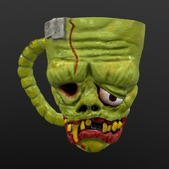 screenshot010.jpg Download STL file Frankenstein Mug - Frankenstein Mug • Object to 3D print, Nayibe