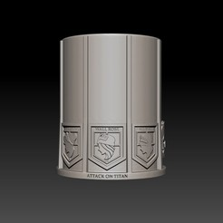 1.jpg Download STL file Vaso Attack on Titan- Attack on the Titans • 3D print model, Nayibe