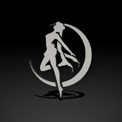 1.jpg Download STL file 3D Silhouette Sailor Moon • Model to 3D print, Nayibe