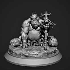 Download STL file Goblin King - The great goblin king, Nayibe