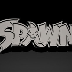 spawn logo2.jpg Download STL file 3D Logo Spawn • 3D print design, Nayibe