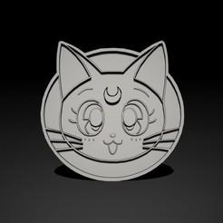 1.jpg Download STL file 3D Cat symbol Sailor Moon • 3D printer object, Nayibe
