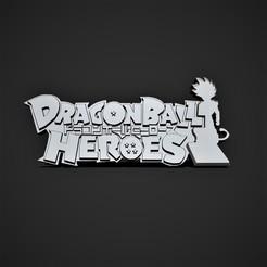 log heroes2.jpg Télécharger fichier STL Logo 3D Héros du Dragon Ball • Objet à imprimer en 3D, Nayibe