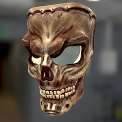 screenshot002.jpg Download STL file Skull Mask • 3D printer template, Nayibe