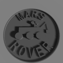 rovercoin.jpg Download free STL file MARS ROVER Troop 52005 Coin • 3D print template, ScotteBeMeUp