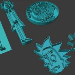 Imprimir en 3D gratis Cortadores de galletas Rick & Morty, nikkblandford22