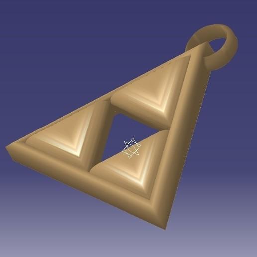 Download free 3D printer designs Llavero trifuerza, alexanderegido