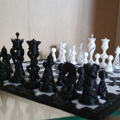 Télécharger modèle 3D gratuit Piezas de ajedrez Lexusus, alexanderegido