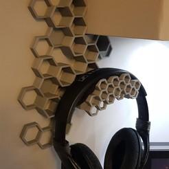 headphone-mount.jpg Télécharger fichier STL gratuit Support pour casque d'écoute d'étagère de 58mm • Modèle pour imprimante 3D, elmins