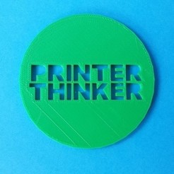 Tinkercad_Drinks_Coaster_Printer_Thinker.jpg Download free STL file Drinks Coaster - Printer Thinker • 3D printable object, printerthinker