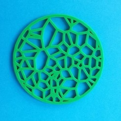 Télécharger fichier impression 3D gratuit Dessous de verre - Voronoi circulaire, printerthinker