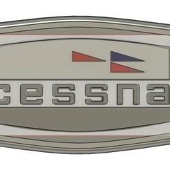 cessnaKeychain.jpg Télécharger fichier STL gratuit Ancien porte-clés Logo Cessna • Modèle pour imprimante 3D, hashevans