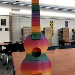 Download free 3D printing models Playable Ukulele - Printable w/ no Supports, potts