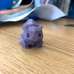 Download free 3D printer templates Low Poly Bulbasaur Keyring REMIX - suitable for small prints, potts