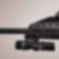 Download free STL Flashlight holder for Evo 3 A1 Scorpion airsoft replica, briandragtstra