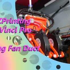 Download free 3D printer files Exhaust Fan Duct for the XYZPrinting Da Vinci Pro 1.0 & 3-in-1, briandragtstra