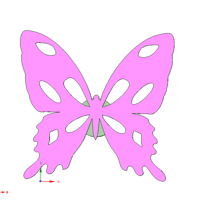 download stl file hair butterfly icon 3d print template cults hair butterfly icon