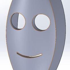Download free 3D printing templates Mini smiley, isomat195