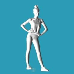 Imprimir en 3D gratis Fitness Girl, punkain86