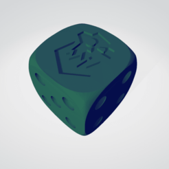 ork.png Download STL file Orks 16 MM DICE FOR 40K • 3D print object, moodyswing