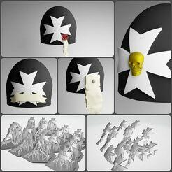 BT Icons.jpg Télécharger fichier 3MF 14x Icônes de l'épaulette des Templiers noirs de l'espace • Plan à imprimer en 3D, moodyswing