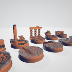 main (1).png Download 3MF file Imperial Temple Palace Bases - 10x 32mm and 4x 25mm round bases/toppers • Design to 3D print, moodyswing