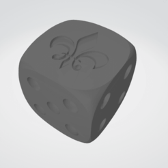 fleur.png Download STL file Sisters of Battle 16 MM DICE FOR 40K • 3D print template, moodyswing