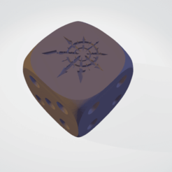 chaosCube_1icon.stl.png Download STL file Chaos 16 mm dice for 40k • Template to 3D print, moodyswing