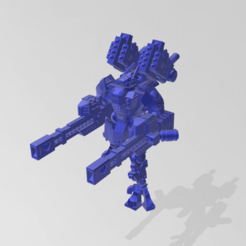 Download free 3D printing designs Space Communist Linear Rifle Battlesuit, kohiproductions
