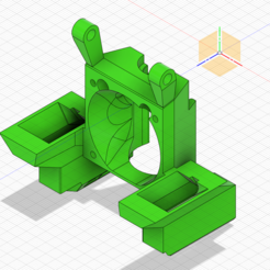 Download free 3D printer templates Dual 5015 Fan Shroud for BLV Cube, kohiproductions
