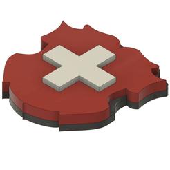Sans titresuisse.png Download STL file Swiss Flag • 3D printing design, GoldenBlack