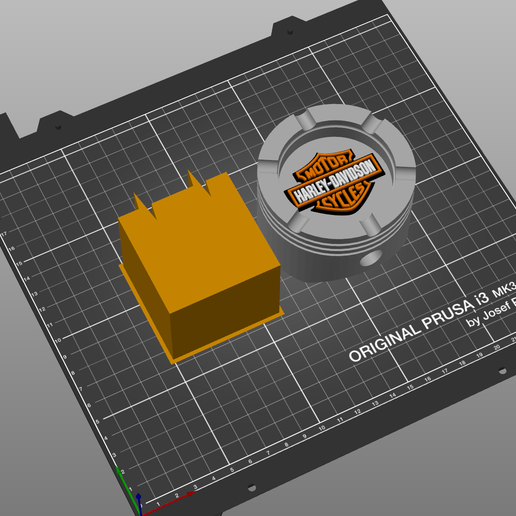 Download free 3D print files Harley Davidson Piston Ashtray Multimaterial, cedrichaefliger