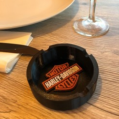 Download free 3D printer designs Harley Davidson Ashtray, cedrichaefliger