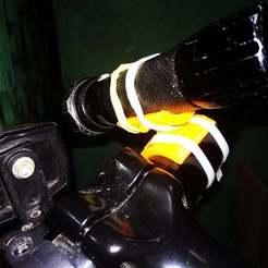 Download free STL file Flashlight bike mount • 3D printable design, denis216051