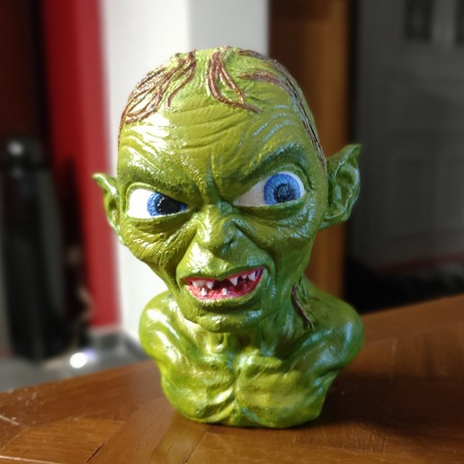 Download free 3D printing templates Golum bust, from Lord Of The Rings, nunu57