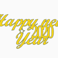 Happy_new_year.PNG Download free STL file Happy New Year sign • 3D printing model, Centro3D