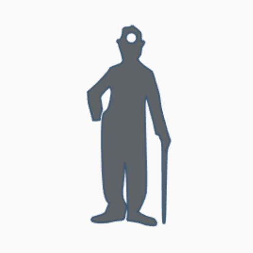 Chaplin.PNG Download free STL file Charles Chaplin keychain - Llavero • 3D printer template, Centro3D